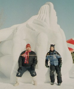 This is where Terry was introduced to snow sculpture - Winnipeg 2004