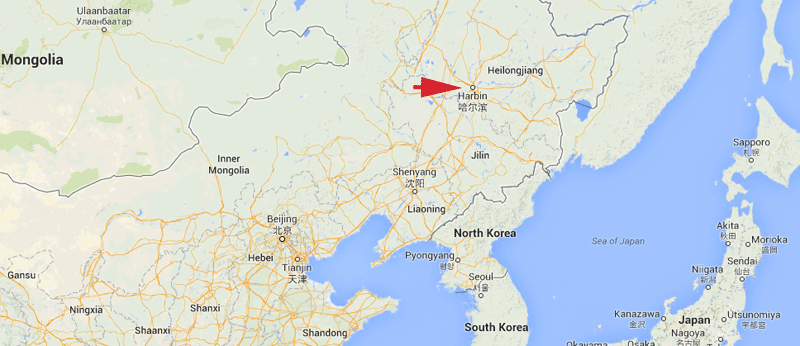 Harbin is about 3 hours by plane from Beijing.