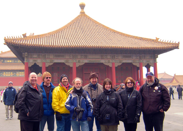 Terry, Matt, Kelly, Kim, Gerry, Theressa, Carole, Pat run into each other in the Forbidden Palace in Beijing