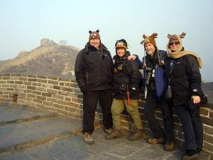 Our hats are big hits while snow carving and at the Great Wall