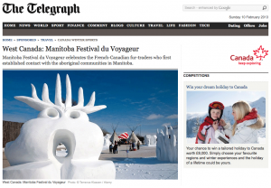 A website from the UK used one of our sculptures in a profile about Winnipeg's Voyageur Festival