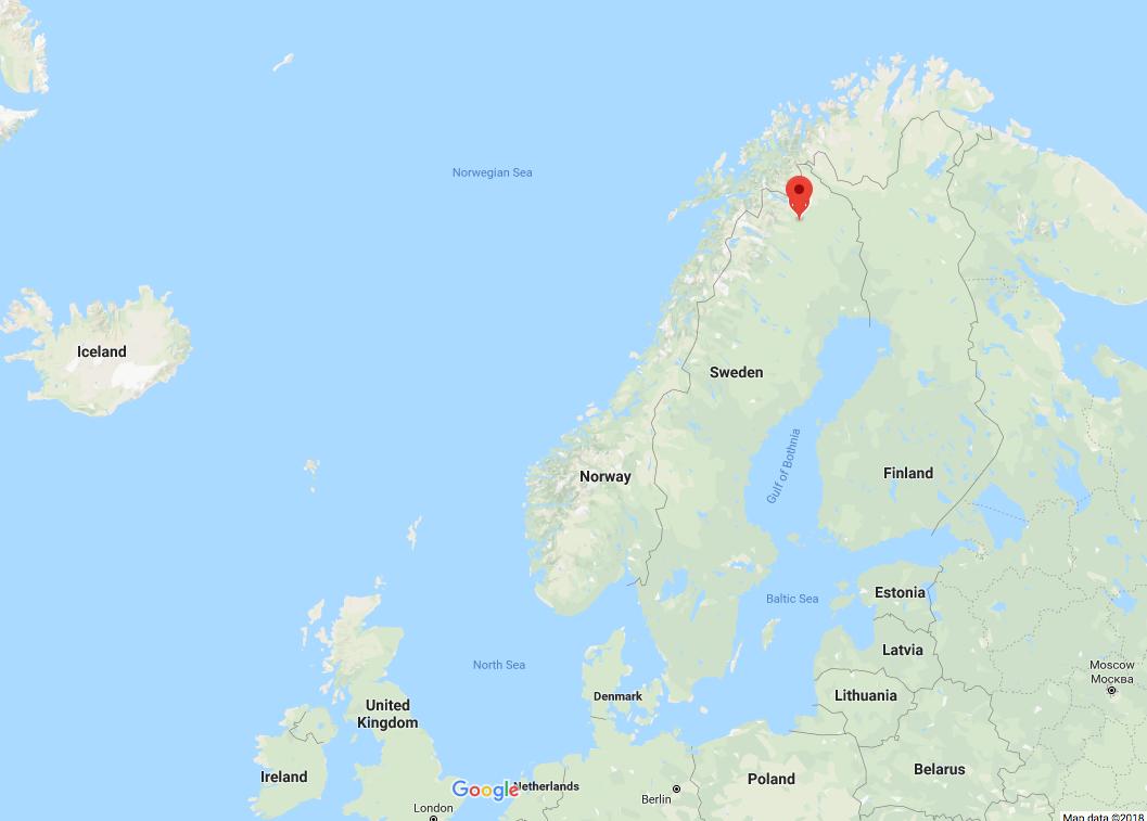 Map of Kiruna Sweden